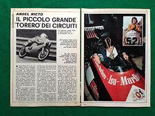 (CC67) Clipping Ritaglio (Anni '70) - ANGEL NIETO , MORBIDELLI 125 DERBI