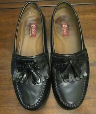 "Bass ""GRAMMER""  Black Leather Toggle Style  Dress Shoes-Size 8 1/2D- VERY NICE!!"