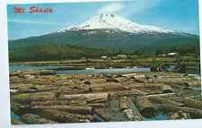 California, Mt. Shasta ( Dormant Volcano )  Log Pond, Unposted- Postcard