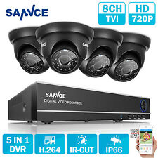 SANNCE 720P Security System Phone Remote APP 8CH DVR 5IN1 Surveillance Camera HD