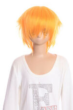 W-01-F3 orange vif court 35cm Perruque COSPLAY Perruque Cheveux