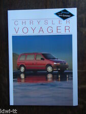 Chrysler voyager folleto/brochure/depliant, 10.1994