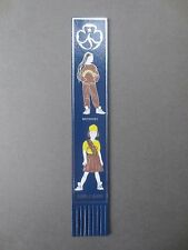 BOOKMARK LEATHER Vintage BROWNIE GUIDES Lend A Hand Girls Uniform Blue Brownies