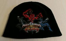 Boys one size Power Rangers Jungle Fury winter hat Black Warm Cold weather Cool