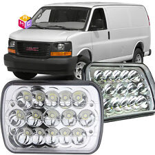 Pair LED Headlight Crystal Clear for Chevrolet C2500 K2500 C3500 K3500 LUV S10