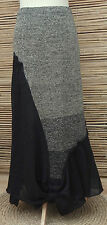 *ZUZA BART*DESIGN OVERSIZE LINEN BEAUTIFUL MAXI SKIRT*BLACK/BEIGE MARL*XXL-XXXL