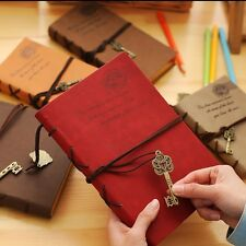 """Key To World"" Big Vintage Diary Notebook Travel Planner Journal Leather Cover"