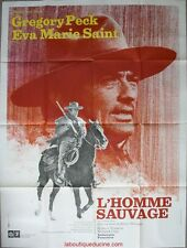 L'HOMME SAUVAGE Stalking Moon Affiche Cinéma / Movie Poster Gregory Peck 160x120