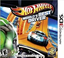 HOT WHEELS WORLDS BEST DRIVER (3DS, 2013) (1151)   FREE SHIPPING USA