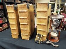1480 Magnificent Incunable Bible - 3 Volumes - Glossed Bible