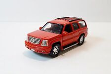 "Welly 2002 Cadillac Escalade 4-3/4"" Long Diecast Car Model Red NEW"