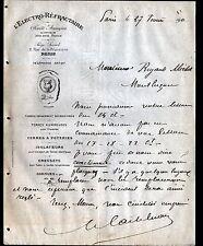 """PARIS (VIII°) USINE de GANNAT (03) TERRES à POTERIE """"L'ELECTRO-REFRACTAIRE"""" 1911"""