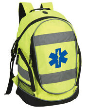 Star of Life Hi-Vis Rucksack/Work Bag - Paramedic First Responder Ambulance