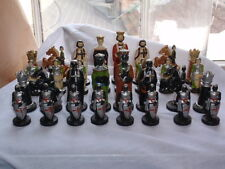 VINTAGE 1960-70's NOVELTY MEDIEVAL MOOR'S & CRUSADER THE CRUSADES CHESS SET