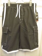 Beverly Hills Polo Club men's grey swimming trunks, size small, new & tagged