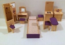 Dollhouse Doll Furniture Bedroom Kitchen Bathroom Geoffrey Inc Toys R Us HTF!
