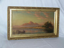 Antique American Original Oil On Canvas Landscape Painting