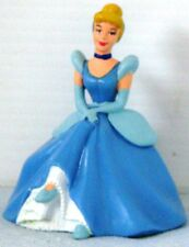 CINDERELLA sitting on CHAIR in Blue GOWN 3 h x 2.75 w PVC Figure DISNEY Cake top