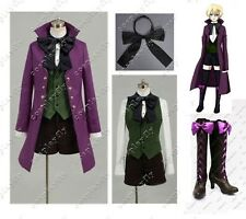 Black Butler II 2 Alois Trancy Anime Cosplay Costume Cloth and Shoes Full Set