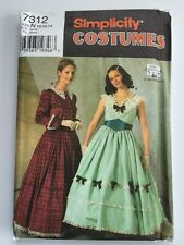 Simplicity Costumes 7312 Civil War Era Dress 10 12 14 Sewing Pattern Uncut