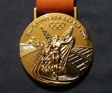 2004 Athens Rome Olympic Game Winners Gold Medal Replica With Ribbon Souvenir UK