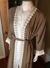 Fancy Khaleeji Abaya Arabic Button Up Half Open Jilbab Dubai Made Size S 54
