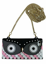 Colorful Summer Owl Purse Handbag Case W Gold Shoulder Chain For iPhone 5 5S