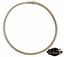 "New 18"" 4mm Gold Plated Omega Choker Necklace (CO4)"