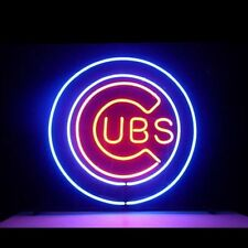 "New Chicago Cubs Baseball MLB World Champion Man Cave Neon Sign 17""x14"""