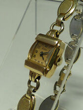 VINTAGE WOMENS SWISS ZODIAC 14K SOLID GOLD WINDING 17'J WATCH WORKS