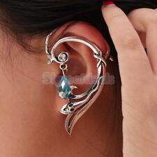 Gothic Punk Rock Temptation Small Snake Wrap Left Ear Stud Cuff Earring Jewelry