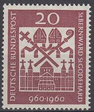 Germany Bund BRD 1960 Mi 336 ** Religion Bischofsinsignien Kirche Church Bishop