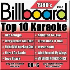 Billboard Top 10 Karaoke: 1980's by Sybersound (CD, May-2005, Sybersound)