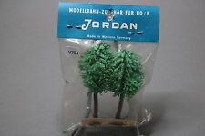 V754 Jordan Ho train decor arbre arbre 65 mm 2 u années 70 Diorama vegetation