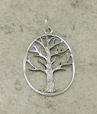 PRETTY HIGH POLISH .925 STERLING SILVER TREE OF LIFE PENDANT  style# p0761