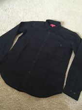 Supreme Black Oxford Red box logo FW15 Button Down Dress Shirt  Size Small S