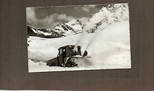 Switzerland Sustenstrasse snow clearing tractor Real photo unposted 1950's A123