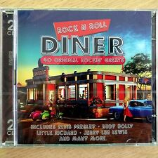 2CD NEW & SEALED - ROCK AND ROLL DINER - Pop Rock 50's 60's Music 2x CD Album