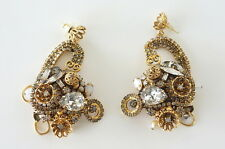 ERICKSON BEAMON Earrings intricate vintage Baroque dramatic