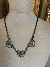 SWEET ROMANCE NECKLACE, PASTEL COLOR BAGUETTES, DECO STYLE VERY PRETTY PC SEE!!!