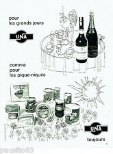 PUBLICITE ADVERTISING  016  1967  UNA  magasins alimentation par Martinot