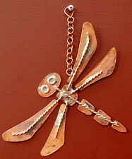 Copper Dragonfly Insect Wall Hanging Plaque. Kitchen Hand Made Shabby Chic