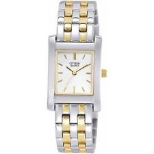 Citizen Ladies Steel Quartz Watch in Yellow Gold tone & Silver. EJ4584-54A