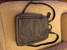 MCM M Moment Medium Leather Backpack, Gray, New With Tags Msrp $1450 Men Women