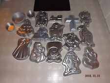 Lot of 17 Vintage Wilton Cake Pans Barney, Teletubbies, Dinosaur, Barbie