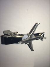 Boeing 737-300 C66 Aircraft Jet English Pewter Emblem on a Tie Clip 4cm long