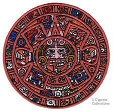 MAYAN DOOMSDAY CALENDAR PATCH embroidered iron-on AZTEC SUN STONE PIEDRA DEL SOL