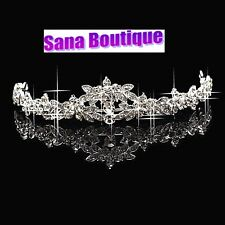Crystal Flower Bridal Tiara Silver plated wedding Tiara Hair accessory