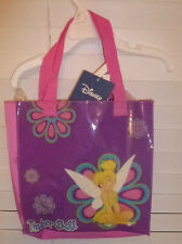 DISNEY TINKERBELL SPARKLE TOTE PURSE~NEW~PURPLE HAND BAG GIRLS ACCESORY PURSE