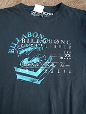 BillaBong Kindershirt T-Shirt schwarz m. Druck türkis-weiss Langarm Gr.164